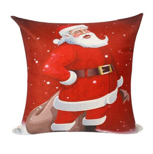 Assorted Christmas Cushion Covers - LED, Animal Print & Traditional Christmas Accessories Loom Rack Santa Claus