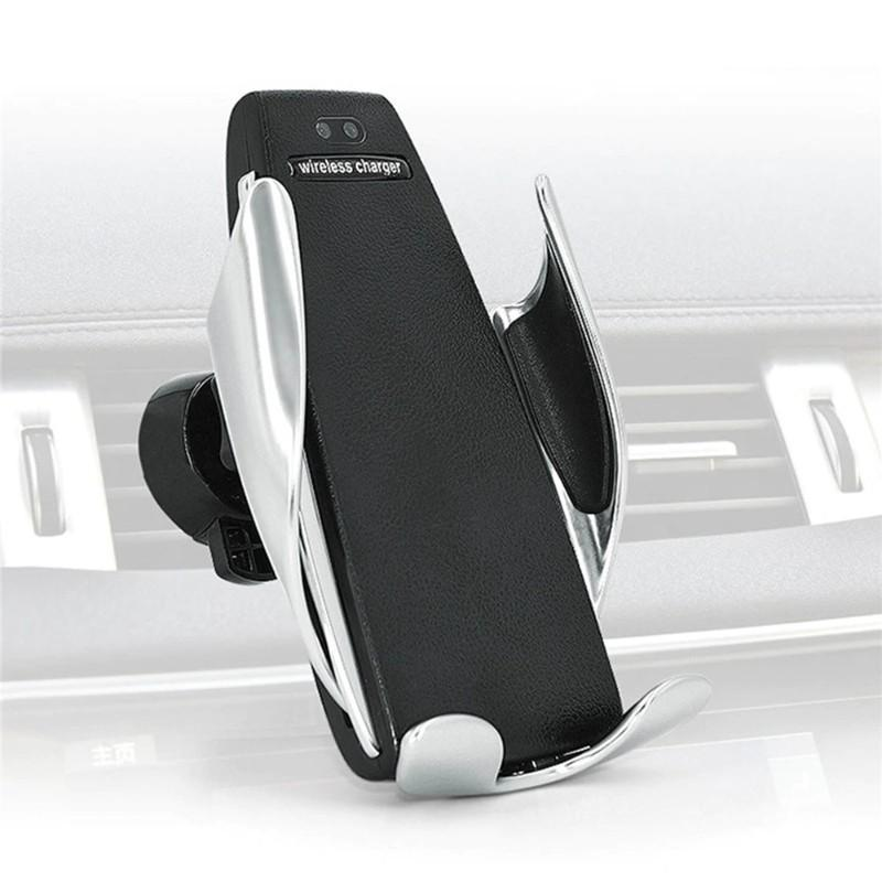 Automatic Clamping Wireless Car Charger Mount Car Accessories Loom Rack iPhone Universal