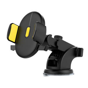 Automatic Locking Windshield Phone Holder, Universal Fit Mobile Phone Accessories Loom Rack Yellow
