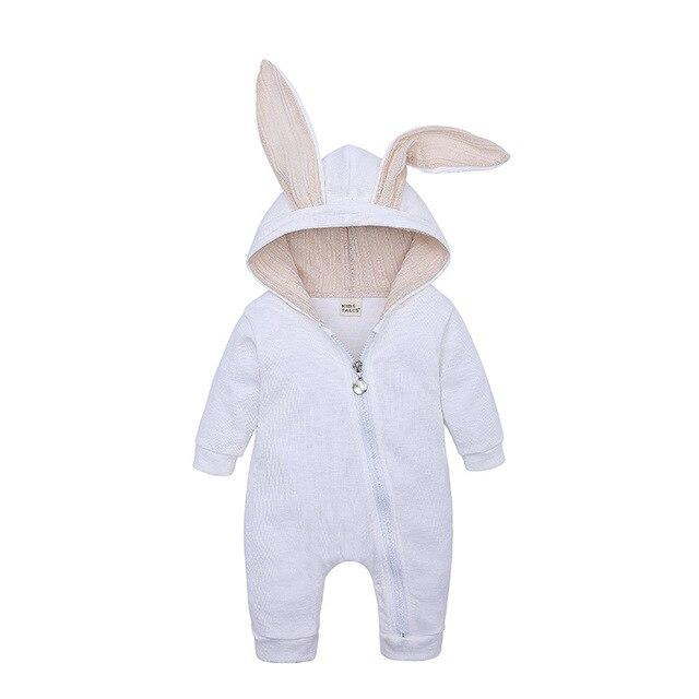 Autumn Winter Overall Baby Rompers Rompers Loomrack White 3M