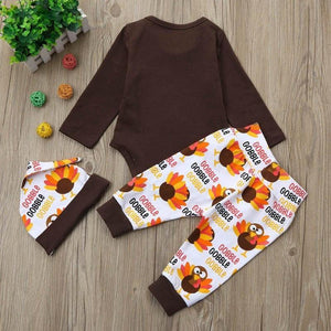 Baby Boy Girl First Thanksgiving Outfit - My First Thanksgiving 3-Piece Set Baby Clothes Loom Rack