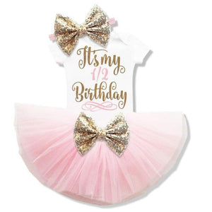 Baby Girl Tutu Unicorn 1st Birthday Outfit (1/2 Birthday, 1st Birthday, 2nd Birthday) Clothing Sets Loom Rack Pink 6m