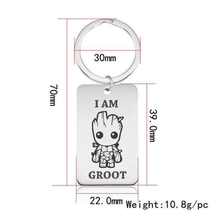 Baby Groot Stainless Steel Keychain Key Chains Loom Rack