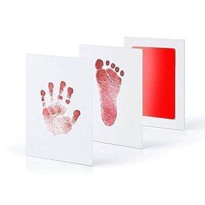 Baby Hand & Footprint Inkless Ink Pad Baby Accessories Loom Rack Red