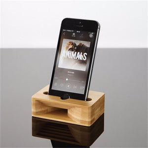 Bamboo Mobile Phone Stand with Amplifier Mobile Phone Holders Loom Rack