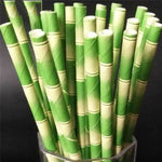 Bamboo Straws Drinking Straws Loom Rack Light Green