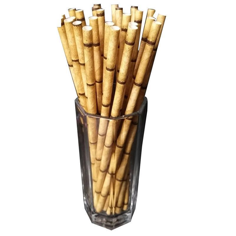 Bamboo Straws Drinking Straws Loom Rack Yellow