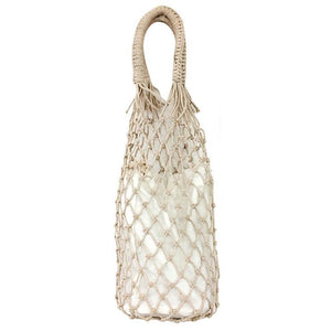 Basket Net Rattan Bag Rattan Bags beige big / with Lining