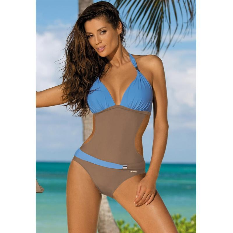 Belted One Piece Swimsuit Swimsuits 2019 Loom Rack Sky Blue S