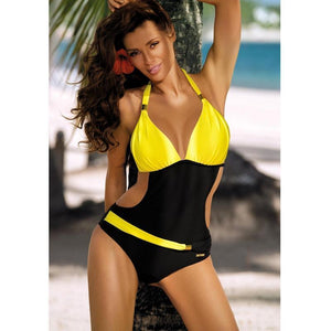 Belted One Piece Swimsuit Swimsuits 2019 Loom Rack Yellow S