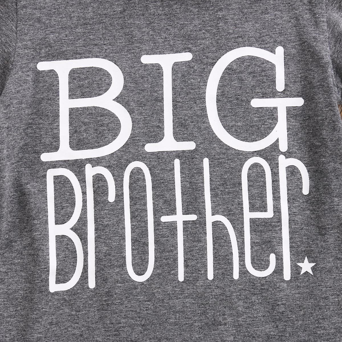 Big Brother Little Sister Matching Shirts - Big Brother T-shirt and Little Sister Onesie Matching Outfits Loom Rack