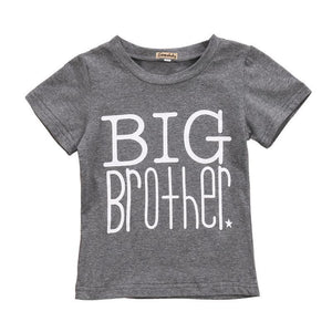 Big Brother Little Sister Matching Shirts - Big Brother T-shirt and Little Sister Onesie Matching Outfits Loom Rack Gray -Big Brother 2T