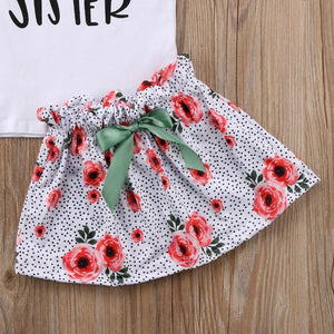 Big Sister Little Sister Matching Outfit - Floral Speckle Matching Outfits Loom Rack
