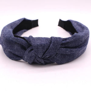 Bohemian Blue Denim Hairbands Hair Accessories Deep Blue