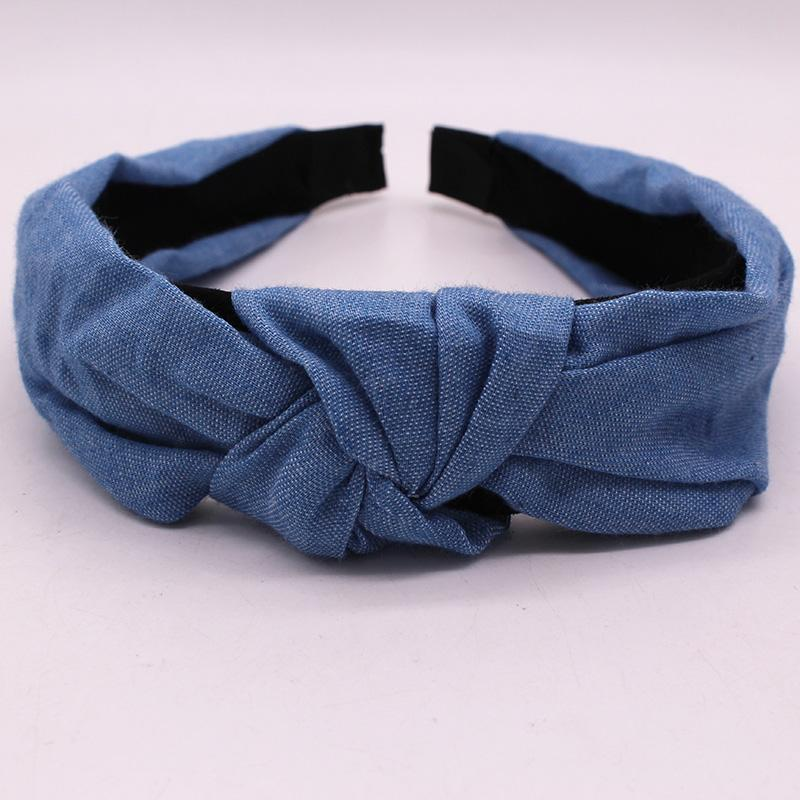 Bohemian Blue Denim Hairbands Headbands Loom Rack