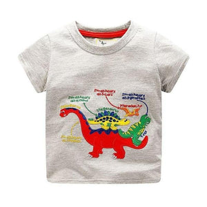 Boys 100% Cotton Summer T-Shirt (Sizes 18M - 2T) T-Shirts Loom Rack Dinosaur Pattern 2T