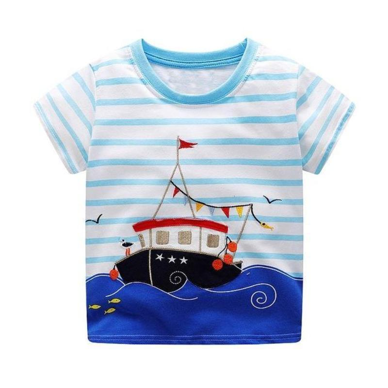 Boys 100% Cotton Summer T-Shirt (Sizes 18M - 2T) T-Shirts Loom Rack Occasion Ship Pattern 2T