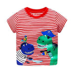 Boys 100% Cotton Summer T-Shirt (Sizes 18M - 2T) T-Shirts Loom Rack Two Dino Pattern 2T