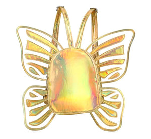 Butterfly Wings Backpack Bags Loom Rack Gold