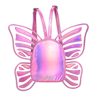 Butterfly Wings Backpack Bags Loom Rack Pink