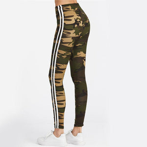 Camo Leggings with White Stripes Leggings Loom Rack
