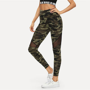Camo Mesh Leggings Leggings Loom Rack