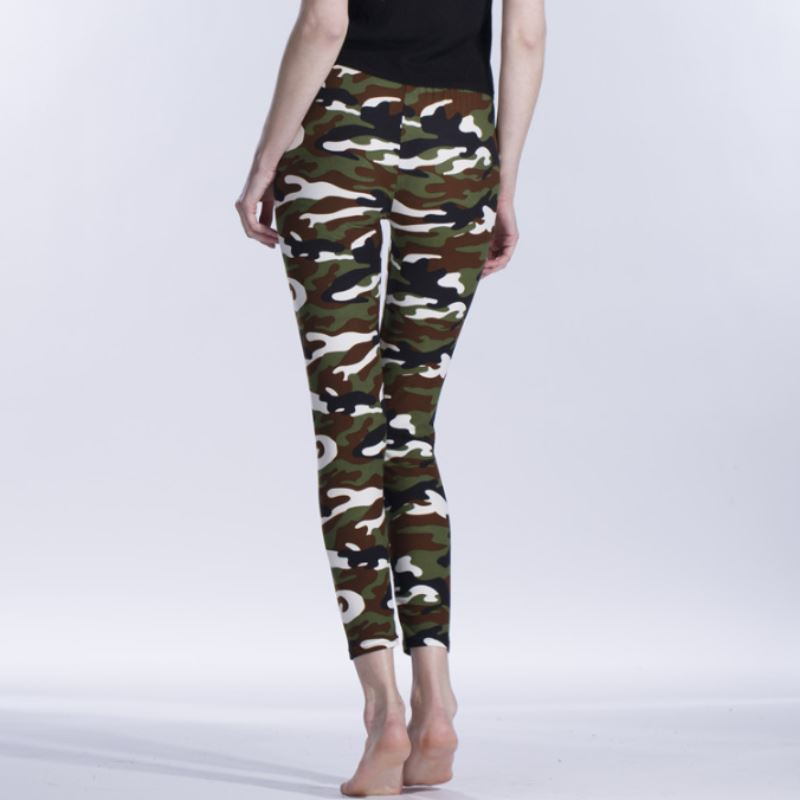 Camo Ultra Elastic Leggings Leggings Loom Rack