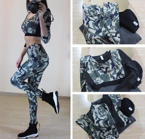 Camouflage Fitness Yoga Set Fitness Loom Rack