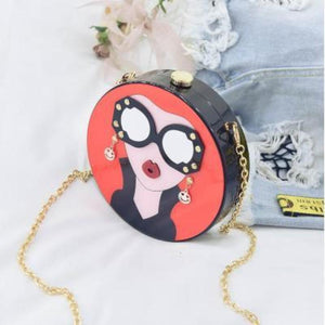 Cartoon Evening Clutch Bag Shoulder Bags Loom Rack