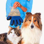 Cat & Dog Pet Hair Glove Brush/Massager Dog Combs Loom Rack