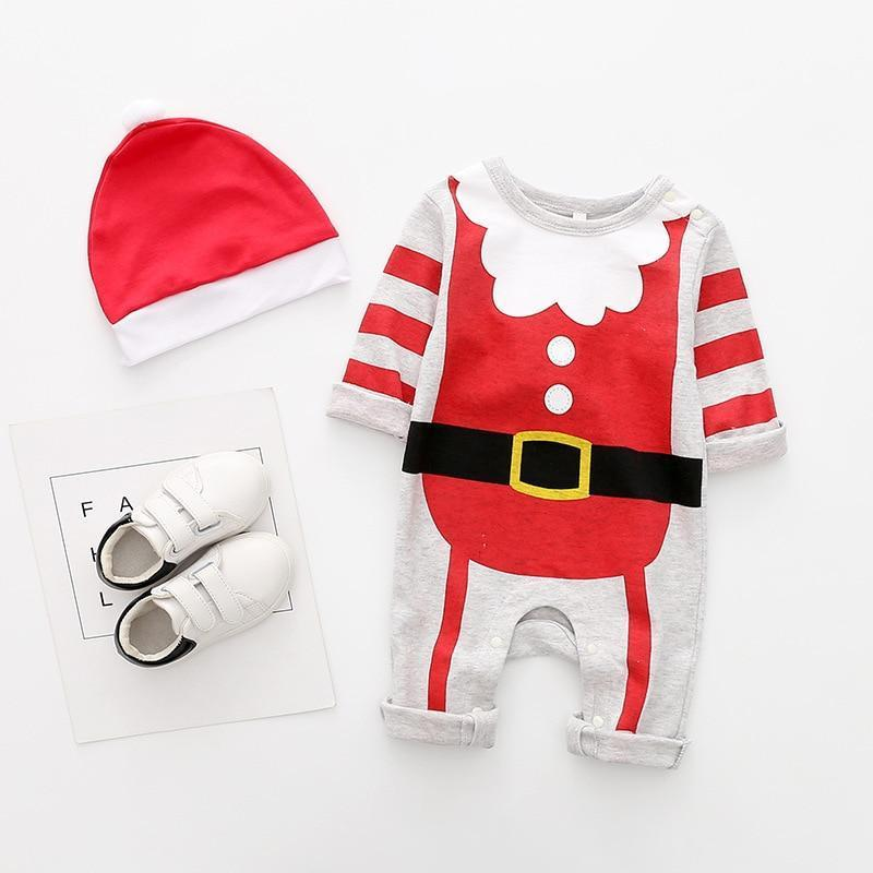 Christmas Baby Boy Romper Onesie Costume Christmas Accessories Loom Rack Christmas Red/White 6M