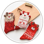 Christmas Santa Claus Deer Socks Christmas Socks Loom Rack