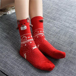 Christmas Santa Claus Deer Socks Christmas Socks Loom Rack Red