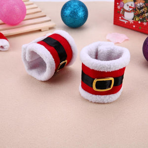 Christmas Santa Suit Napkin Ring Holder 6-Piece Set Christmas Accessories Loom Rack