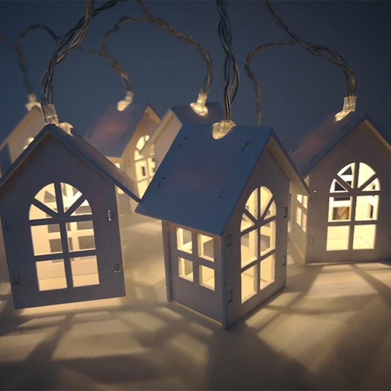 Christmas Tree House LED Light String Christmas Accessories Loom Rack