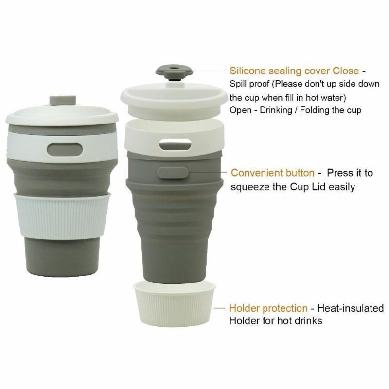 Collapsible Coffee Mug - Perfect On-the-Go Collapsible Cup for Travel & Camping Mugs Loom Rack