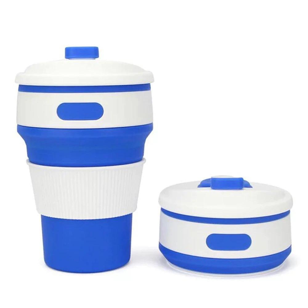 Collapsible Coffee Mug - Perfect On-the-Go Collapsible Cup for Travel & Camping Mugs Loom Rack Blue 350ML
