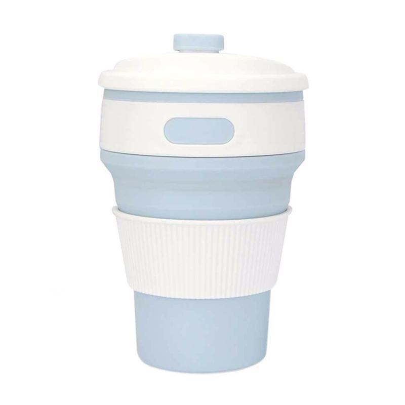 Collapsible Coffee Mug - Perfect On-the-Go Collapsible Cup for Travel & Camping Mugs Loom Rack Sky Blue 350ML