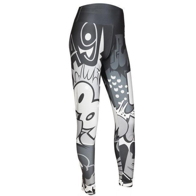 Color Digital Fun Leggings Leggings Loom Rack Deep Gray S