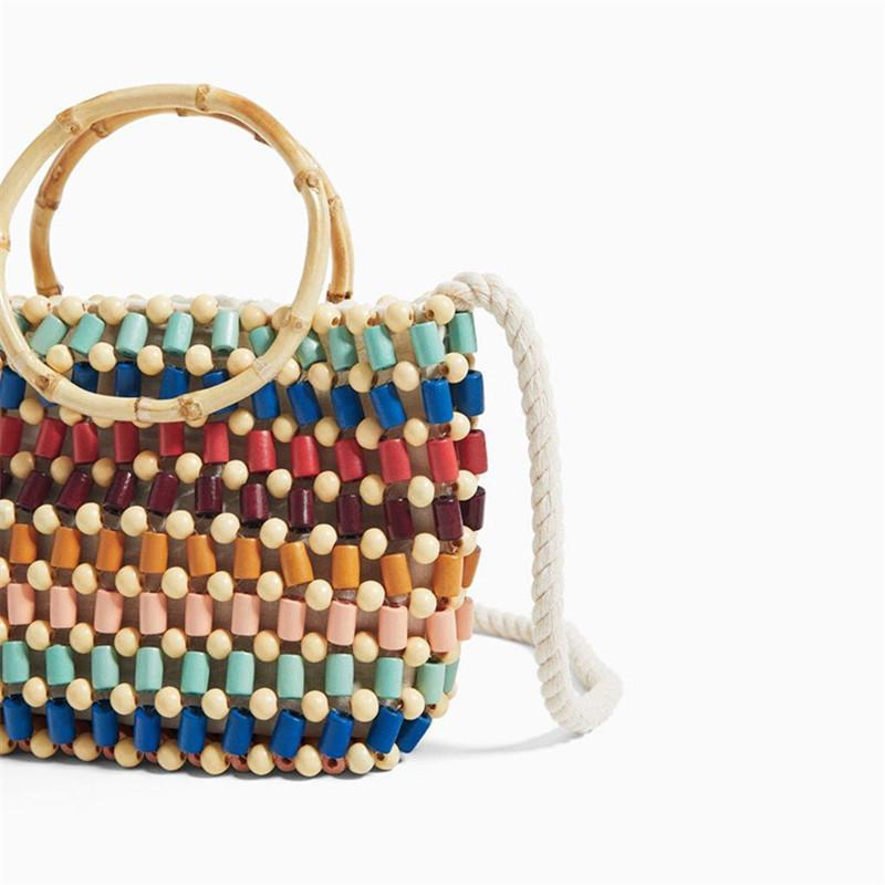 Colorful Rattan Bag Rattan Bags 22 x 18 x 7cm