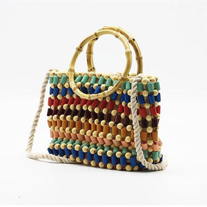 Colorful Rattan Bag Rattan Bags Loom Rack 22 x 18 x 7cm