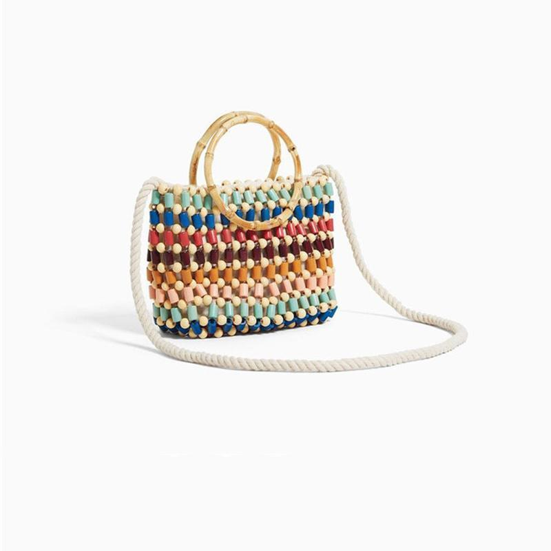 Colorful Rattan Bag Rattan Bags Loom Rack