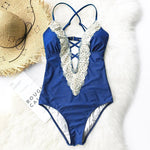 Crochet V-Neck One-Piece Swimsuit Swimsuits 2019 Loom Rack