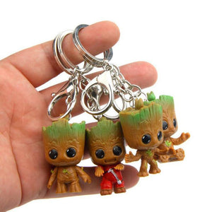 Cute Baby Groot Tree Flower Pot Key Chain (4 pcs.) Flower Pots & Planters Loom Rack 4pcs Keychain
