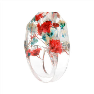 Delicate Resin Flower Rings Rings Loom Rack 6 01