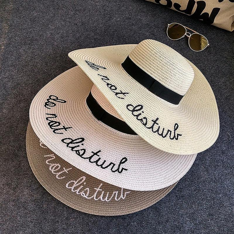 Do Not Disturb Summer Straw Hat Straw Hats Loom Rack