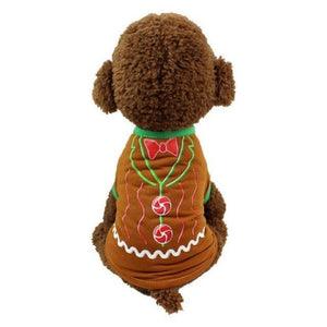 Dog Cat Christmas Ugly Sweater Shirt Christmas Accessories Loom Rack Santa Brown XS