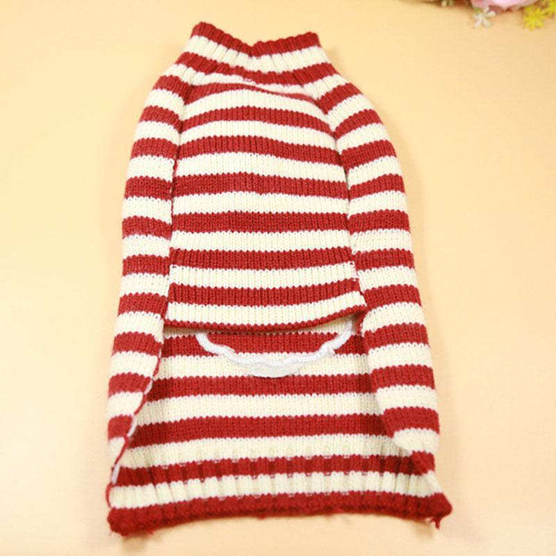 Dog Cat Striped Christmas Sweater Christmas Accessories Loom Rack