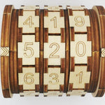 Educational Cryptex Alphabet Lock Kids Toys LoomRack Wood