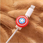 Fancy Cable Charger Protector Mobile Phone Accessories Loom Rack Captain America